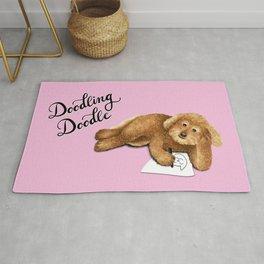 Doodling Doodle (Pink) Rug