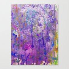 watercolor lace Canvas Print