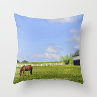 kentucky Throw Pillows featuring Kentucky by ThePhotoGuyDarren