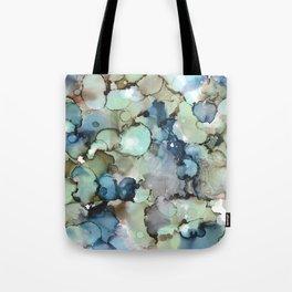 Alcohol Ink Sea Glass Tote Bag