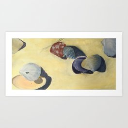 Scattering shells Art Print