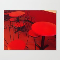An Ice Cream Red Canvas Print
