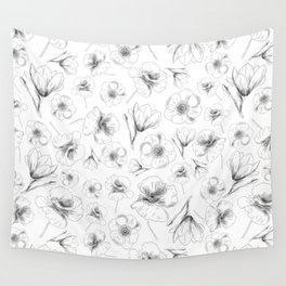 Minimal flowers Wall Tapestry