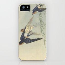 Three birds in full flight - Ohara Koson (1887 - 1945) iPhone Case
