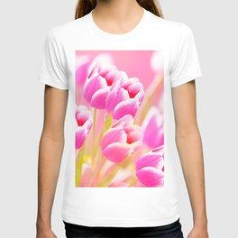 Pink Tulip Flower Bouquet #decor #society6 #buyart T-shirt