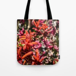 Flowers in Pink and Red Tote Bag