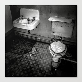 Servants' Accomodations / Black & White Canvas Print