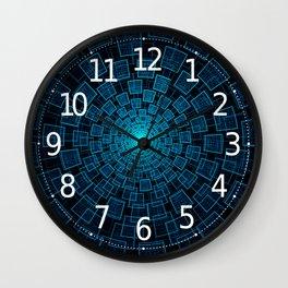 Circular Abstract Fractal Pattern Wall Clock