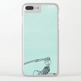 skeleton in halasana Clear iPhone Case