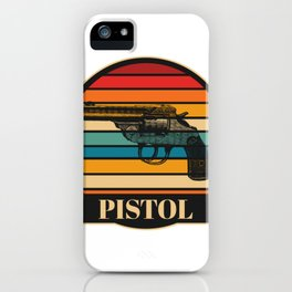 I Love Pistol iPhone Case