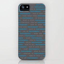 Blue Photography Keywords Marketing Concept iPhone Case