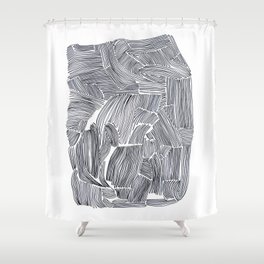 Straight lines Shower Curtain