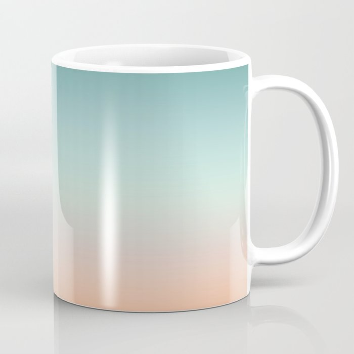 color gradient background fading sunset sky colors coffee mug by