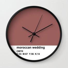 pantone, marsala, moroccan wedding, CMYK Wall Clock