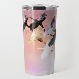 Japanese cranes Travel Mug