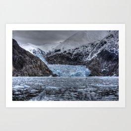 Sawyer Glacier talks back Art Print