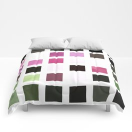 Rosas Moradas 2 Abstract Rectangles 2 Comforters