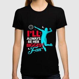 Volleyball Fans Always Support Team Ball Sports T-shirt