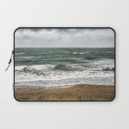 Land and sea under stormy clouds Laptop Sleeve