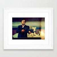 scarface Framed Art Prints featuring Scarface by Smojojo