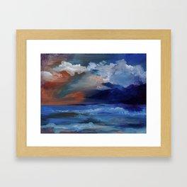 Red sky at morning, sailor's take warning. Framed Art Print