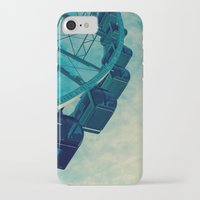 ferris wheel iPhone & iPod Cases featuring Ferris Wheel by Tracy Wong