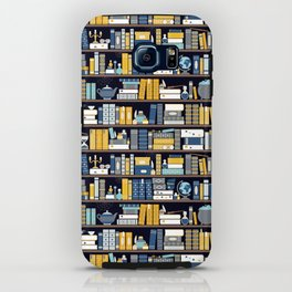 Book Case Pattern - Blue Yellow iPhone Case