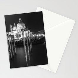 VENICE Santa Maria della Salute in black and white Stationery Cards