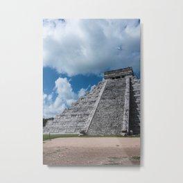 Mayan Pyramids Metal Print