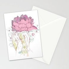 There's a Feeling In My Chest That Wants to Glide Like Leaves, and Set Like Fires 2/2 Stationery Cards