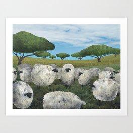 greener pasture Art Print