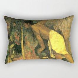 "Paul Gauguin ""Pape Moe Aka (Mysterious Water)"" Rectangular Pillow"