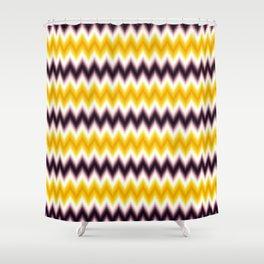 Chevron/Zigzag Gradual Yellow & Dark Purple Color Shower Curtain
