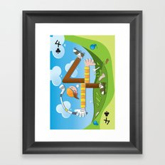 Fore of Clubs Framed Art Print