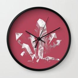 Deep Rose Boujee Boho Crystal Wall Clock
