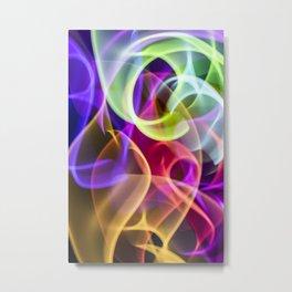 Smoking All The Rainbow Swirls Metal Print