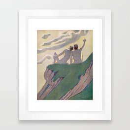 """""""I do not know what it is except that it is grand, and that it is happiness"""" Framed Art Print"""