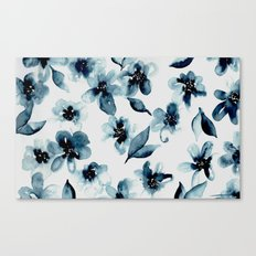 Indigo Flowers Canvas Print