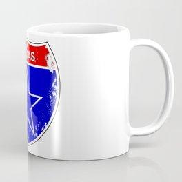 Texas Lone Star Interstate Sign Coffee Mug