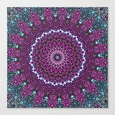 purple and blue kaleidoscope Canvas Print