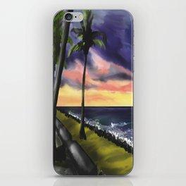 sunset at Boa Viagem Beach iPhone Skin