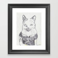ofelia la gata original Framed Art Print