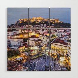 Athens Cityscape Fine Art Print Wood Wall Art