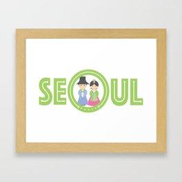 Seoul - Koreans in Traditional Costumes Framed Art Print