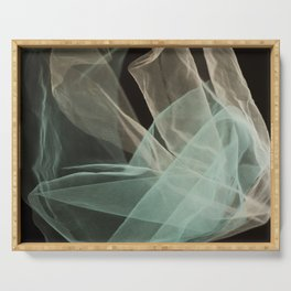 Abstract veil background Serving Tray
