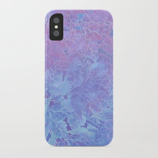 Frozen Leaves 3 iPhone Case
