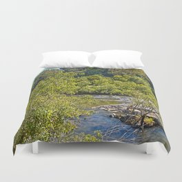 A glimpse of the beautiful river Duvet Cover