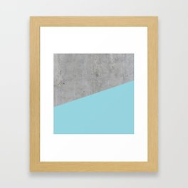 Concrete and Island Paradise Color Framed Art Print