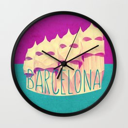 Barcelona Gaudi Paradise Wall Clock
