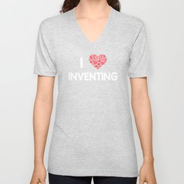 I Love Inventing Creativity Engineering T-Shirt Unisex V-Neck